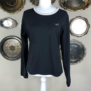 3/$15 HORNY TOAD Black Long Sleeve Shirt Pocket M